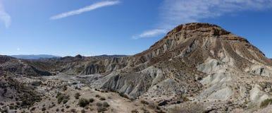 The desert of the Tabernas in Almeria. Spain Stock Images