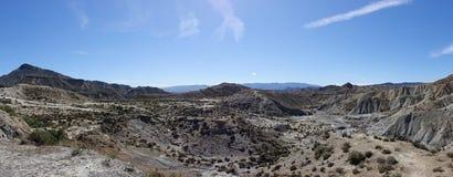 The desert of the Tabernas in Almeria. Spain Royalty Free Stock Image