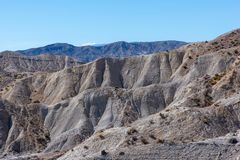 The desert of the Tabernas in Almeria. Spain Royalty Free Stock Images