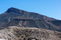 The desert of the Tabernas in Almeria. Spain Royalty Free Stock Photos