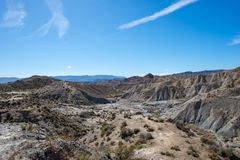 The desert of the Tabernas in Almeria. Spain Royalty Free Stock Photo