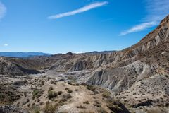 The desert of the Tabernas in Almeria. Spain Royalty Free Stock Photography