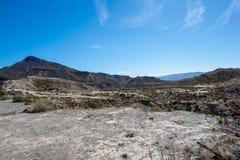 The desert of the Tabernas in Almeria. Spain Stock Photo