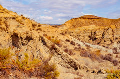 Desert of Tabernas, in Almeria, Spain Stock Photography