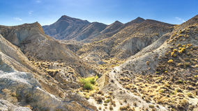 Desert Tabernas in Spain. Landscape photo: view to the desert of Tabernas in the South of Andalusia Spain royalty free stock photos