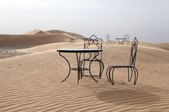 Desert tables and chairs Stock Photography