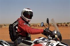 Desert tarveler , Mauritania Stock Images