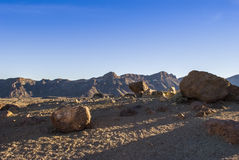 Desert (Teide - Tenerife) Stock Photography