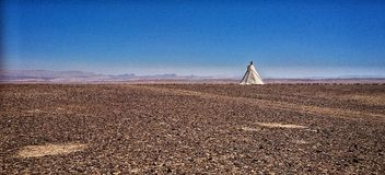 Desert tent Royalty Free Stock Image