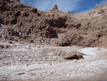 Desert terrain in san pedro de atacama Royalty Free Stock Photos