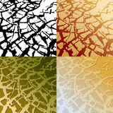 Desert texture. Four colored desert textures, illustration Royalty Free Stock Images