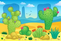 Desert theme image 2. Eps10 vector illustration Stock Image