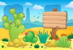 Desert theme image 3. Eps10 vector illustration Stock Image