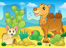 Desert theme image 4. Eps10 vector illustration Royalty Free Stock Image