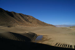 Desert In Tibet Royalty Free Stock Images
