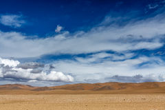 Desert  in Tibet plateau Royalty Free Stock Photography