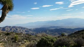 Desert time lapse view from the mountains stock video footage