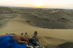 Desert togheter. A place to chill with you Royalty Free Stock Images