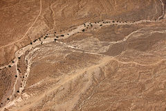 Desert the top view. Aerial view of desert  Wilderness Area. Arizona, United States Royalty Free Stock Image