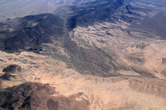 Desert the top view Stock Image