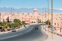 Desert town Ouarzazate in Morocco Stock Images