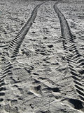 Desert Tracks Royalty Free Stock Photos