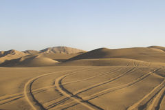 Desert tracks royalty free stock photography
