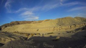 Desert Trail Landscape PAN 2 Borrego Desert Ca stock video
