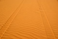 Desert trail in Libya Royalty Free Stock Photography