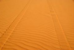 Desert trail in Libya Royalty Free Stock Photography