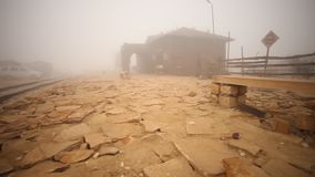 Desert Train station of Rajasthan stock footage