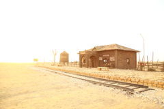 Desert Train station of Rajasthan Royalty Free Stock Photo