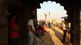 Desert Train station at Rajasthan India stock video