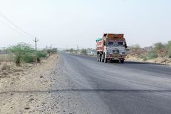Desert Barmer Rajasthan Indian Truck royalty free stock images