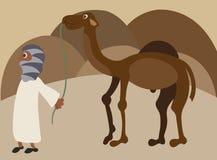 Desert traveller stock illustration