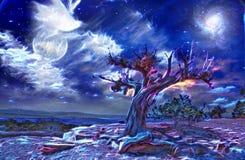 Free Desert Tree At Night Stock Photo - 51366480