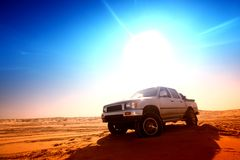 Desert truck Stock Photo