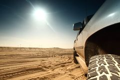 Desert truck Royalty Free Stock Photos