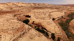 Desert in Utah, USA. Scenic landscape. Nature, geology, environment of Utah. View from above, aerial view, drone shot stock video footage