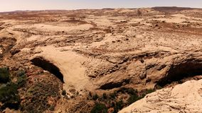 Desert in Utah, USA. Scenic landscape. Nature, geology, environment of Utah. View from above, aerial view, drone shot stock footage