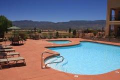Desert Vacation Resort Swimming Pool Royalty Free Stock Photography