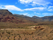 Desert Valley. A beautiful desert valley full of light and color Royalty Free Stock Photography