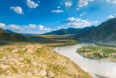 Desert valley of the Altai Royalty Free Stock Photography
