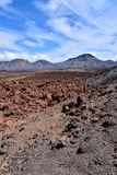 Desert valley landscape. Desert valley at foot of the volcano Teide on Tenerife Canary Islands Spain Royalty Free Stock Image