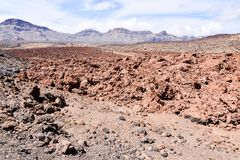 Desert valley landscape. Desert valley at foot of the volcano Teide on Tenerife Canary Islands Spain Stock Photography