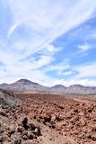Desert valley landscape. Desert valley at foot of the volcano Teide on Tenerife Canary Islands Spain Royalty Free Stock Photo
