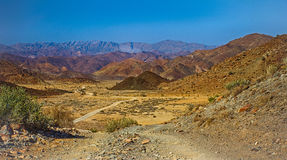 Desert Valley and Mountains in Richtersveld National Park Stock Photo