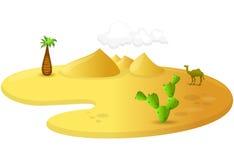 Desert. Vector stylized illustration of a desert Royalty Free Stock Photography