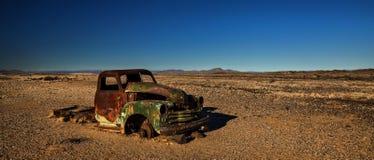 Desert vehicle wreck Royalty Free Stock Photography