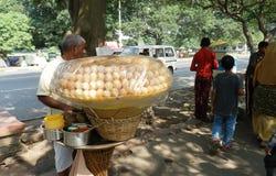 Desert vendor on street in Calcutta Royalty Free Stock Images